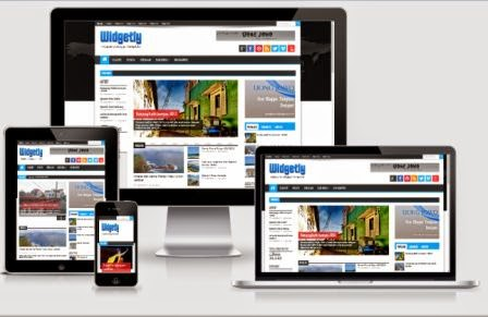 Widgetly Responsive Magazine Blogger Template