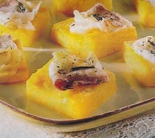 mini tartine polenta