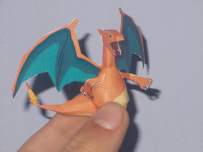 Notes This Pokemon Papercraft Is A Mini Charizard