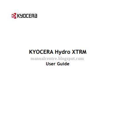 KYOCERA Hydro XTRM Manual