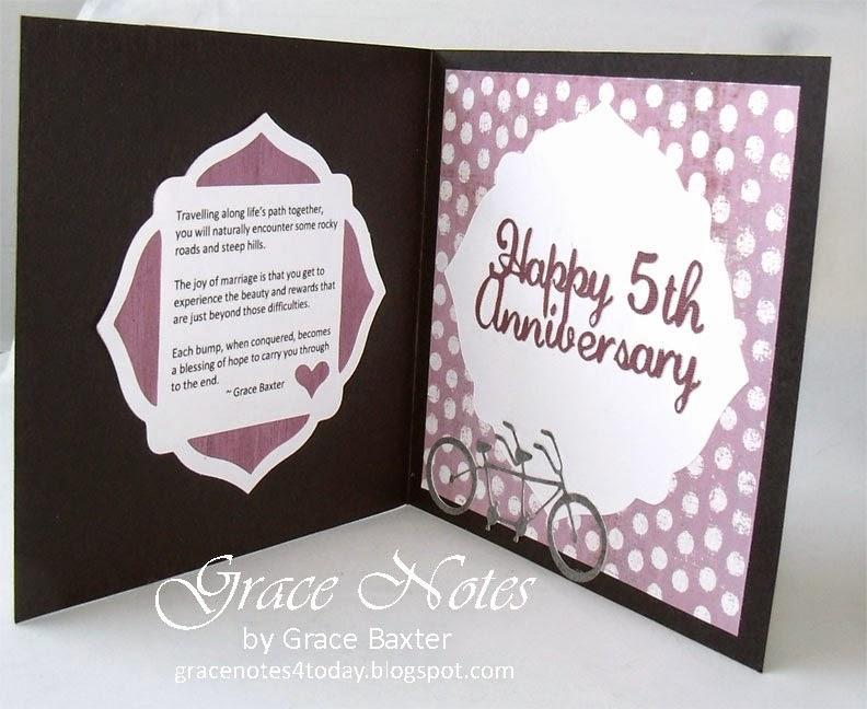 5th. Anniversary Card, inside