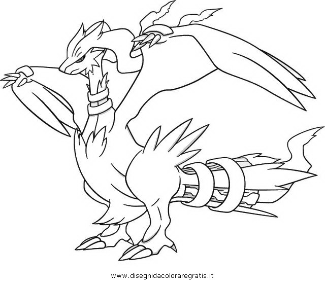 coloring pages pokemon zekrom x - photo#14