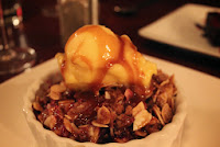 Fruit crisp at Masona Grill, West Roxbury, Mass.