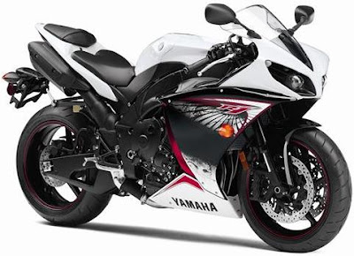 2012 Yamaha YZF-R1 Colors White Red Black