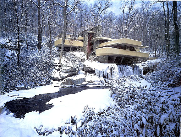 Oh by the way happy birthday fallingwater - Maison sur la cascade ...