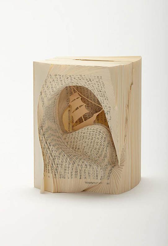 Famosos libros de novelas convertidos obras de arte maravillosamente intrincadas