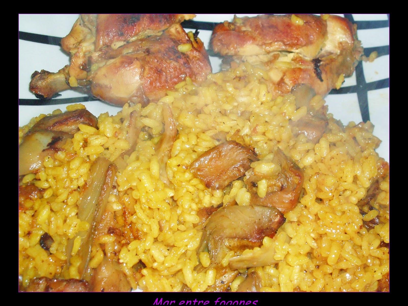 Mar entre fogones arroz al horno con conejo setas y for Horno con fogones