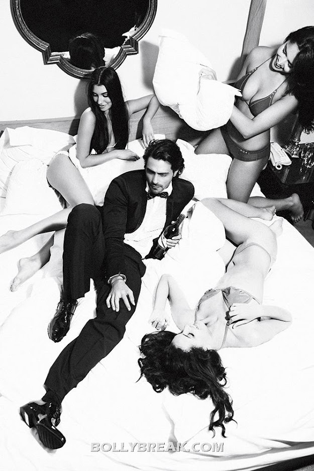 Arjun Rampal Commerical with Bikini models on bed - Arjun Rampal on Bed with Bikini Models - HOt Ad