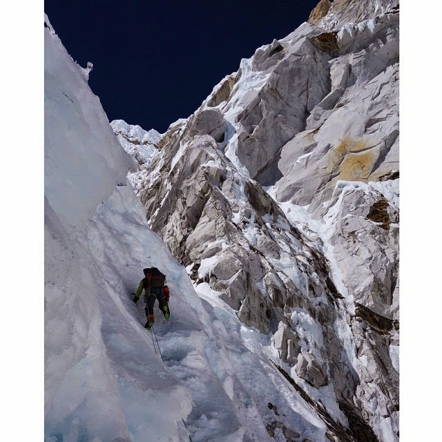 28735ab7fc Ian Welsted on Nuptse South Face  Source