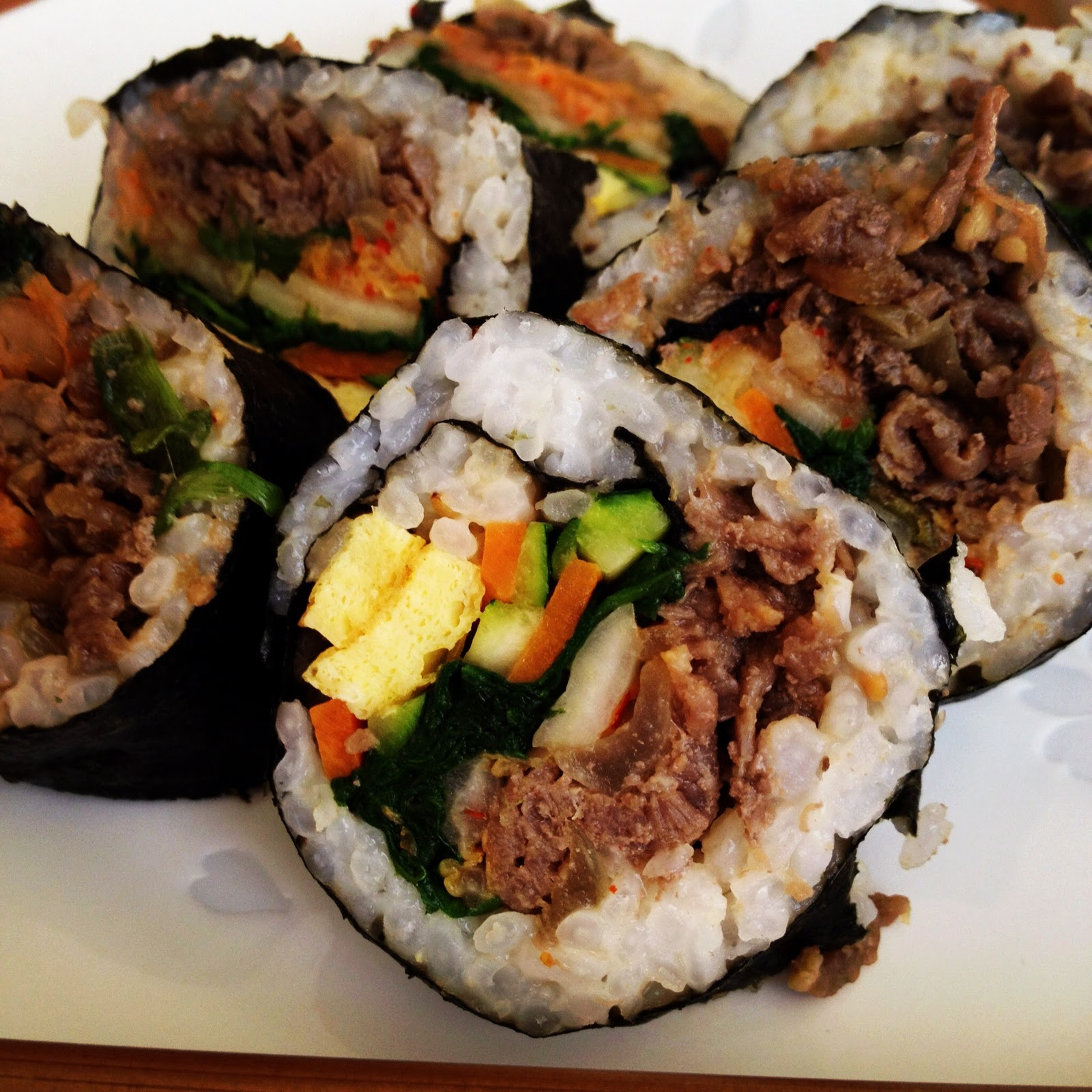 how to make kimbap korean food