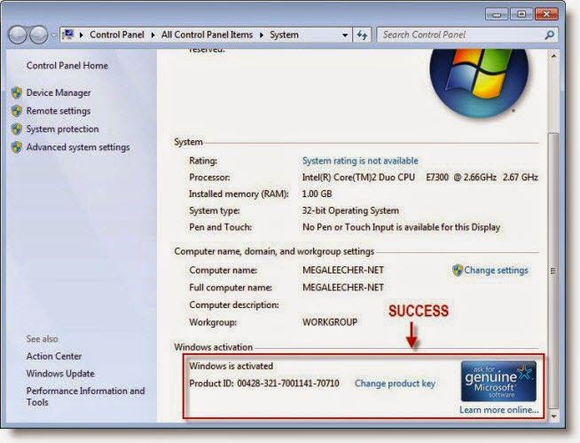 Windows 7 Genuine Activator