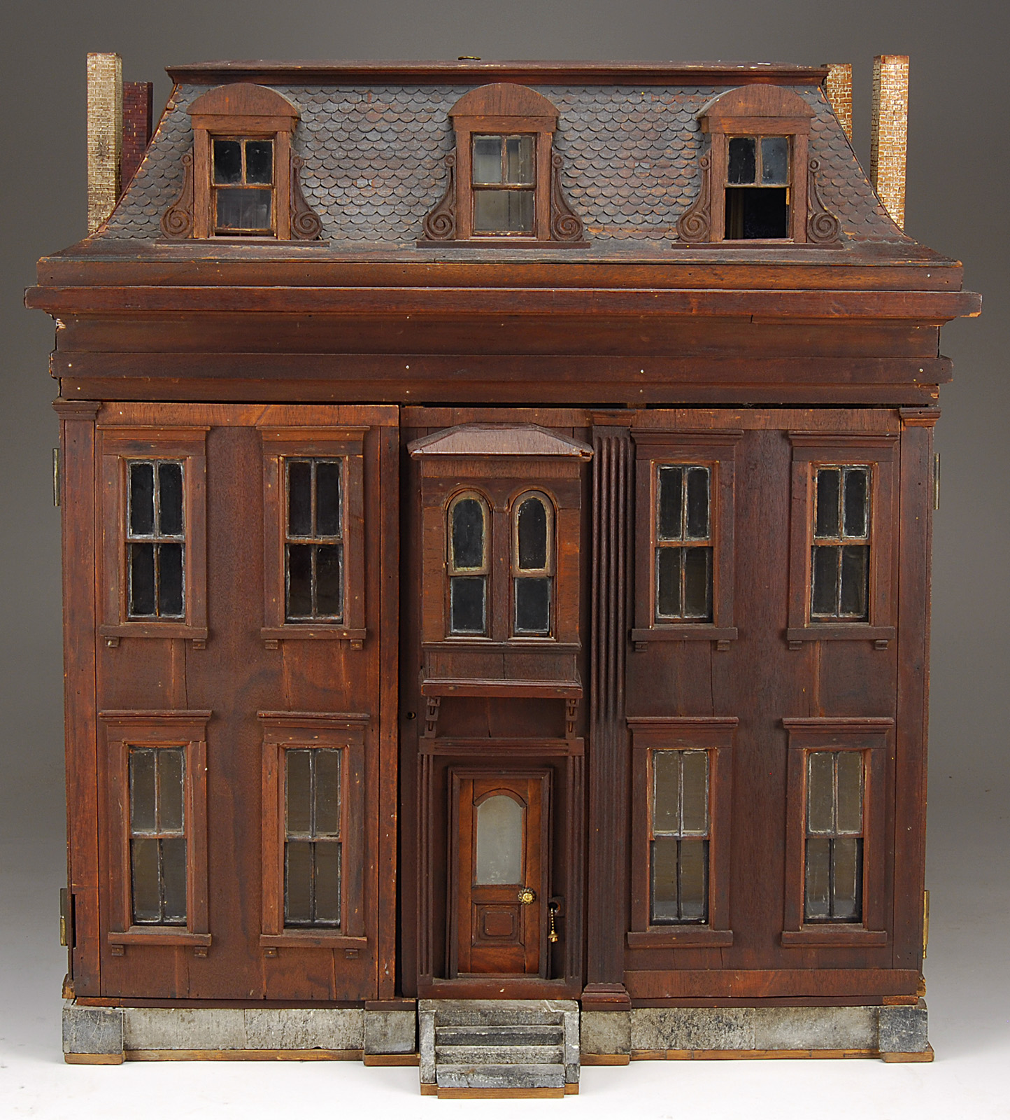 Dioramas and clever things antique dollhouses made from wood for Classic house blogspot