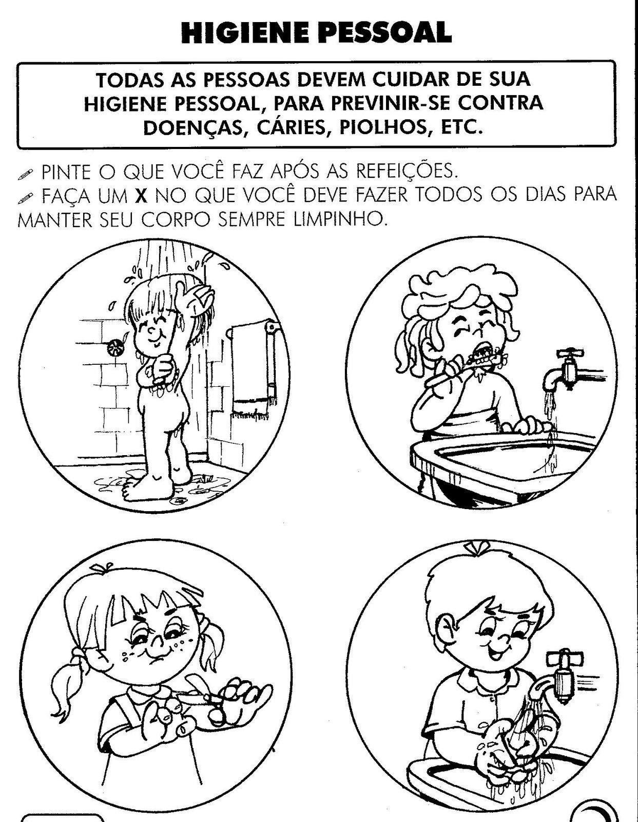 Populares Blog Professor Zezinho : Provas - Ciências 2° e 3° anos - Higiene JK32
