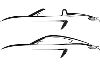 Porsche 718 Boxster and 718 Cayman (2016) Silhouettes