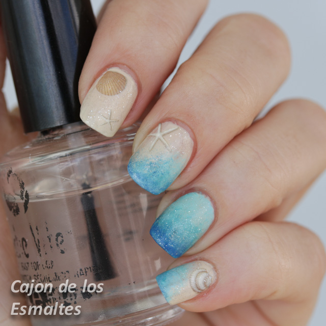 Decoraci n de u as para playa summer nail art challenge - Decoracion de unas ...