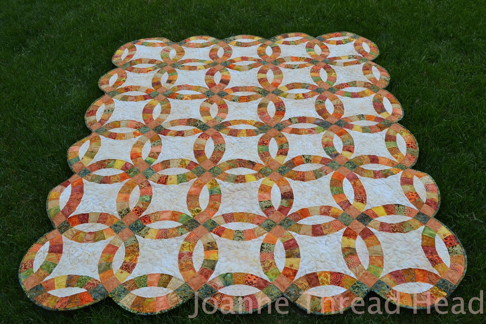Thread Head Double Wedding Ring Quilt
