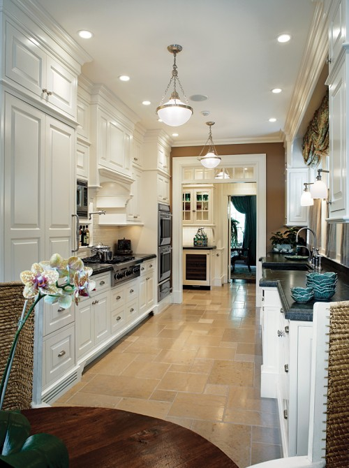 Galley kitchens designs home design and decor reviews for Decorating a galley kitchen ideas