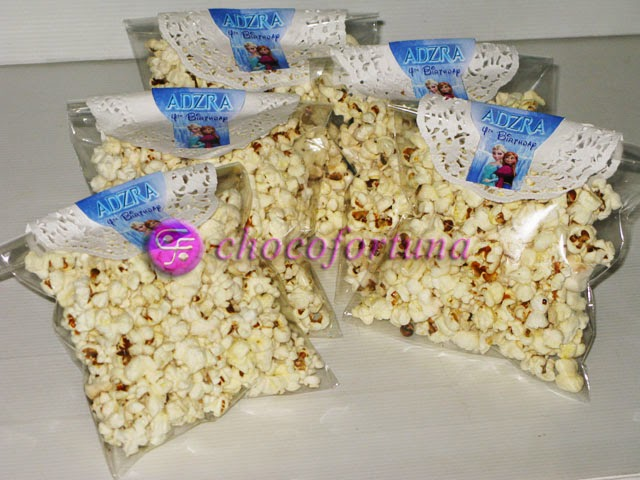 Souvenir popcorn Ulang tahun birthday Goodie Bag Princess Elsa Frozen