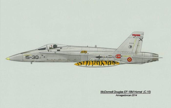 Los dibujos de Armagedoncan Armagedoncan+EF-18M+Hornet