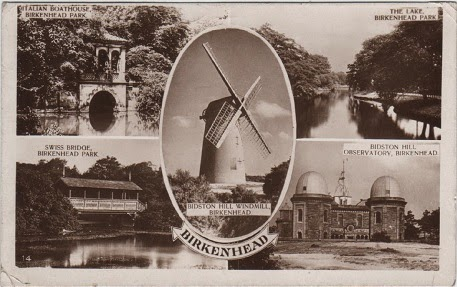 Vintage multiview postcard of Birkenhead