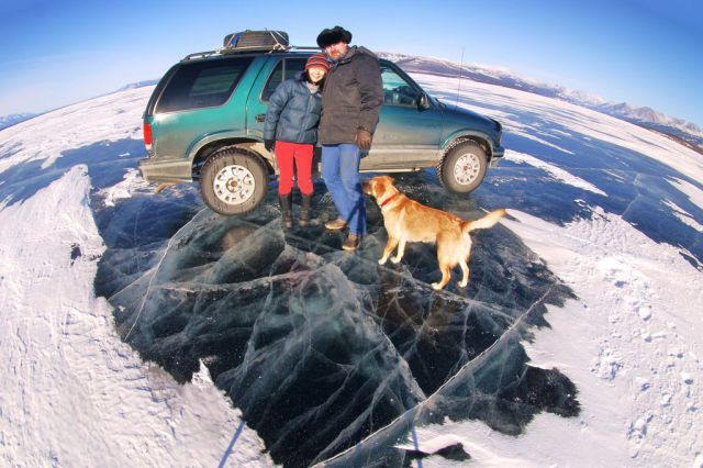 Pessoas no gelo