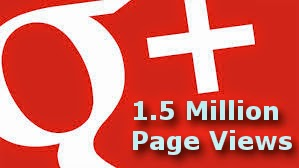 1.5 Million Google Plus page views