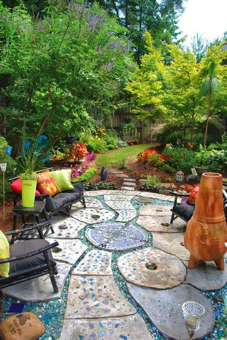 Beautiful outdoor garden space