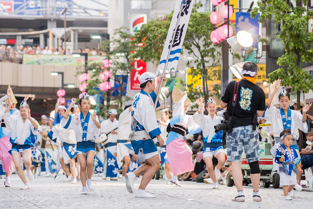 三鷹阿波踊り、波奴連(はちゃめちゃれん)の写真