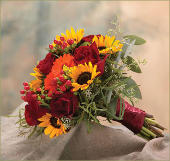 Flowers Bouquet Are Already At The Design For The Wedding Fall Flowers