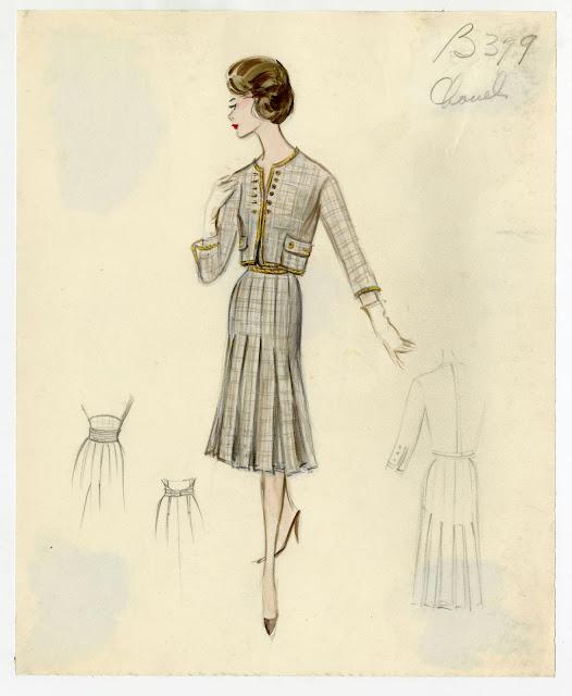 a+vintage+chanel+sketch