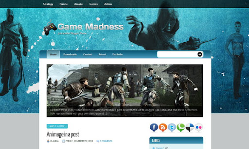 Game Madness Blogger Template