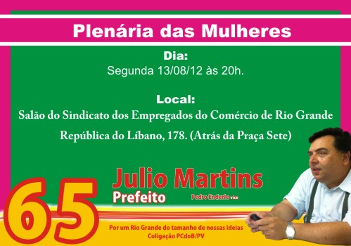 Julio, Martins, Prefeito, PCdoB, 65