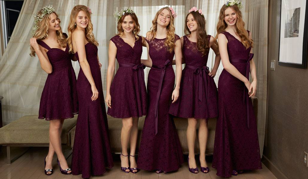 Bridesmaids Dresses By Color And Fabric