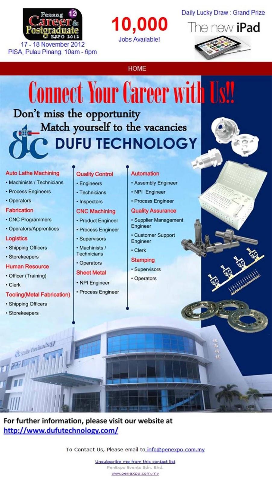 Faisal Zulhumadi: Dufu Industries Sdn Bhd @ 12th Penang Career ...