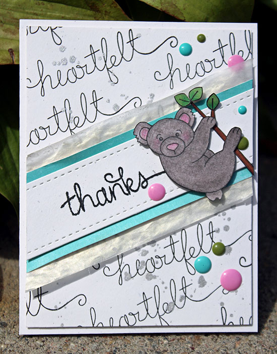 Heartfelt Thanks Koala card by Larissa Heskett for Newton's Nook Designs | Simply Sentimental Stamp Set