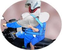 Sabuk pengaman boncengan motor untuk anak