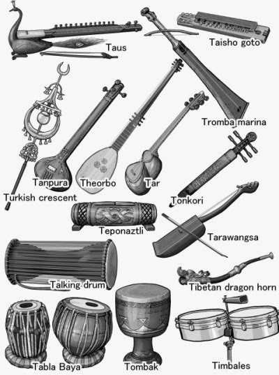 monochrome illustration : taus - timbales