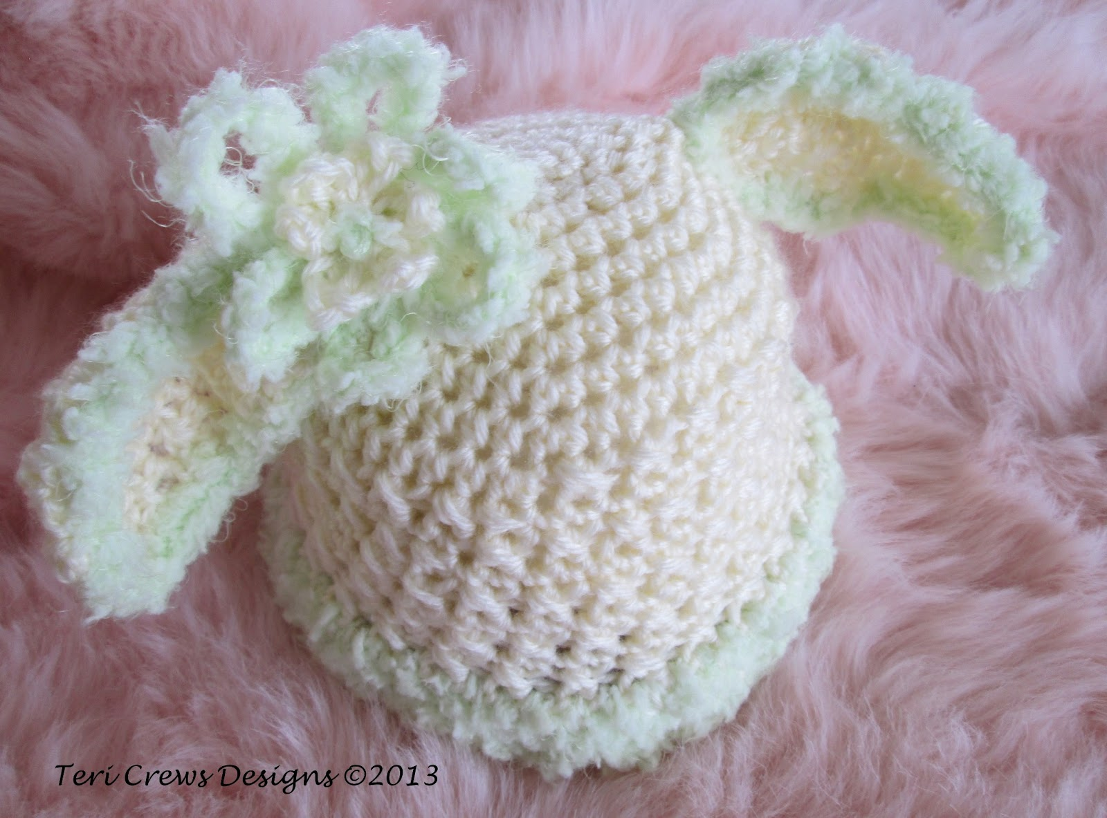 Teri\'s Blog: Bunny Baby Hat, Another Free Crochet Pattern