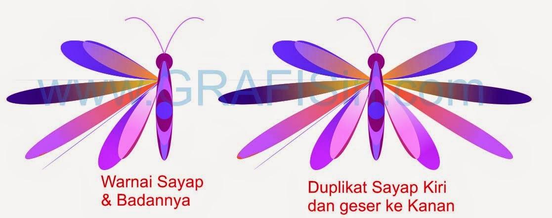 Kreasi Kupu-Kupu dengan CorelDraw   Make Butterfly with CorelDraw
