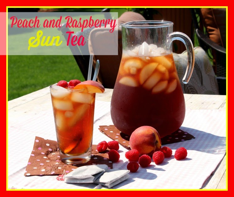 Peach and Raspberry Sun Tea - kudoskitchenbyrenee.com
