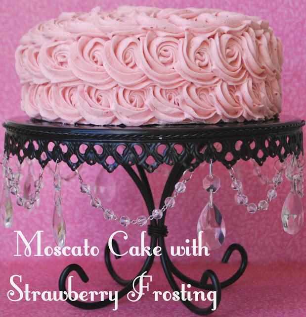 strawberry frosting #moscatocake