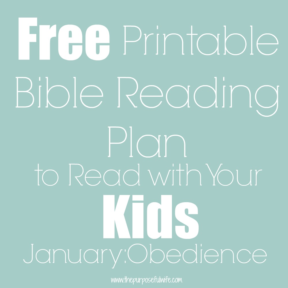 The Purposeful Wife: A Bible Reading Plan for Little Ones