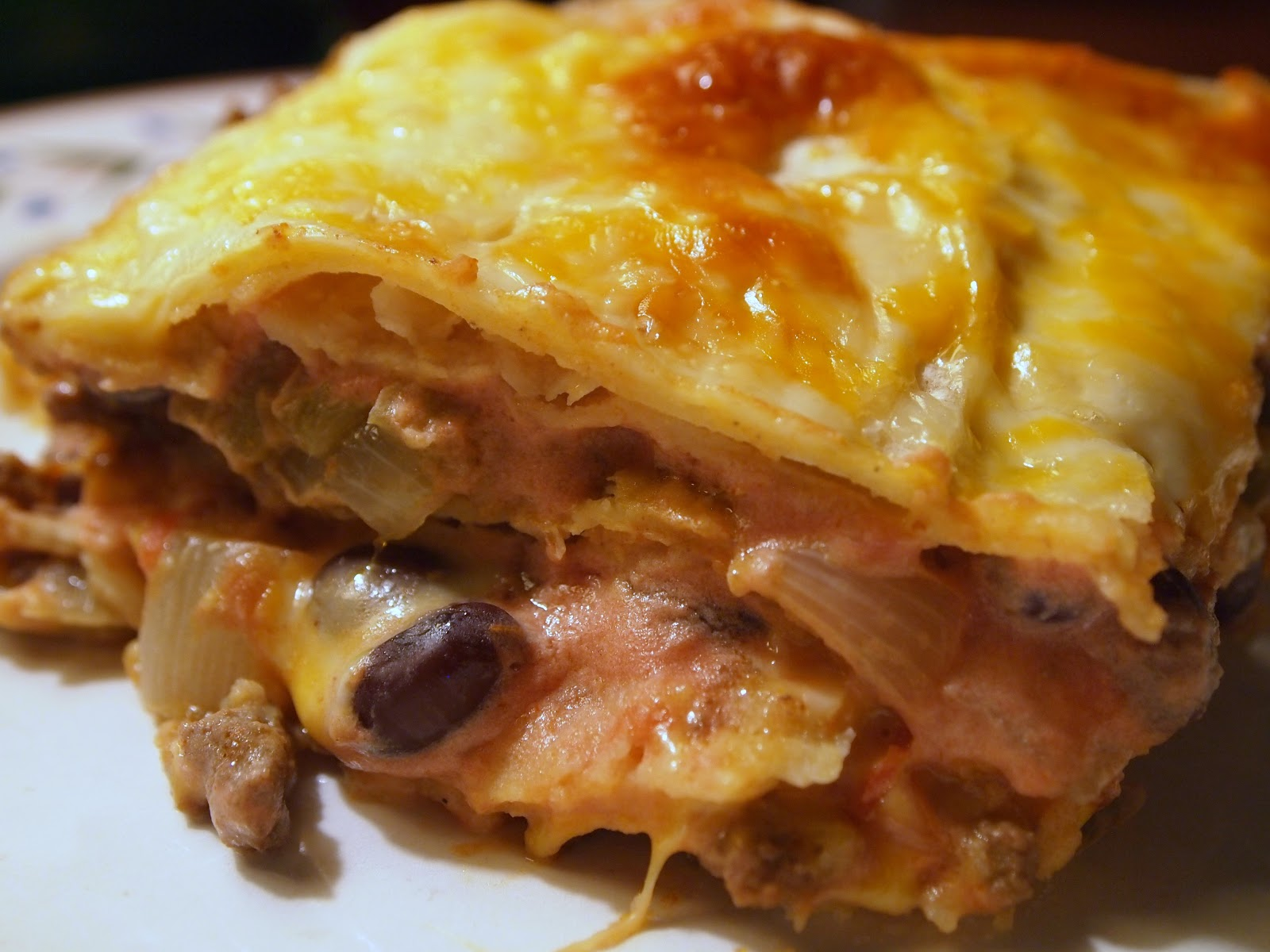"The Early Bird Baker: Tex-Mex ""Lasagna"""