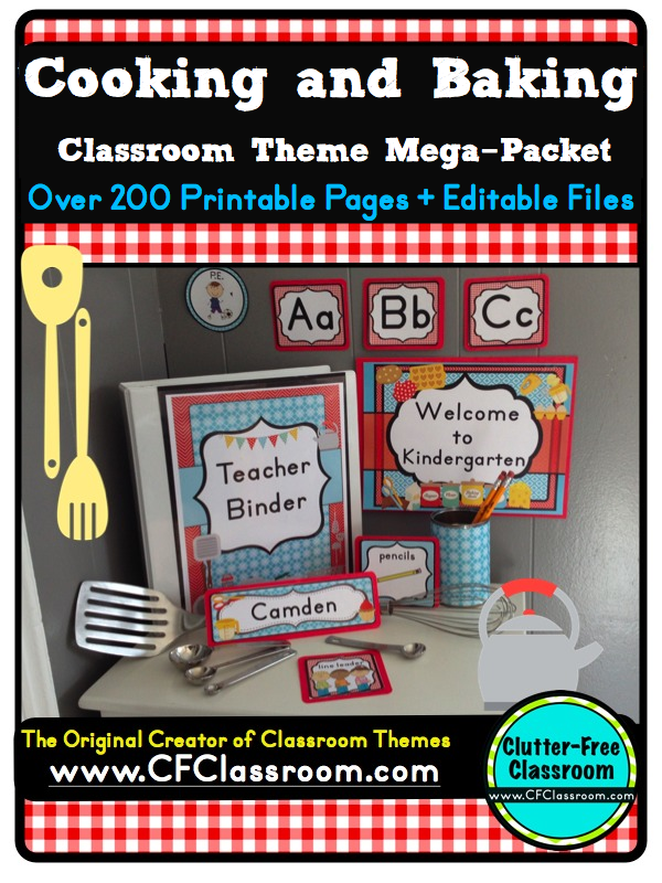 Classroom Cooking Ideas ~ Clutter free classroom cooking food themed classrooms