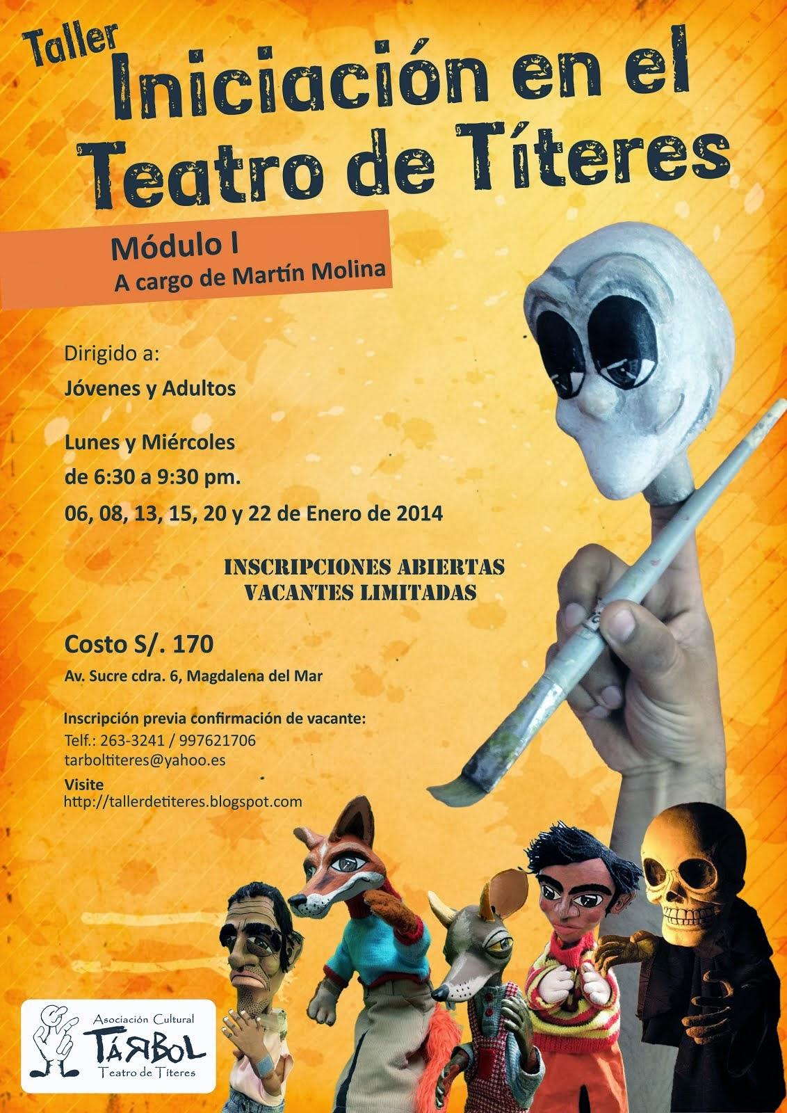 Taller de Iniciación en el Teatro de Títeres