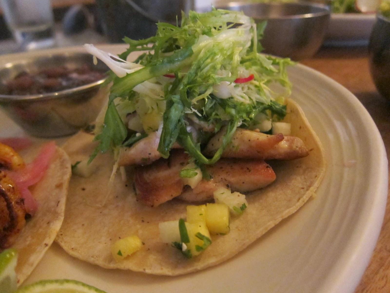 Mahi mahi taco from The Painted Burro | The Economical Eater