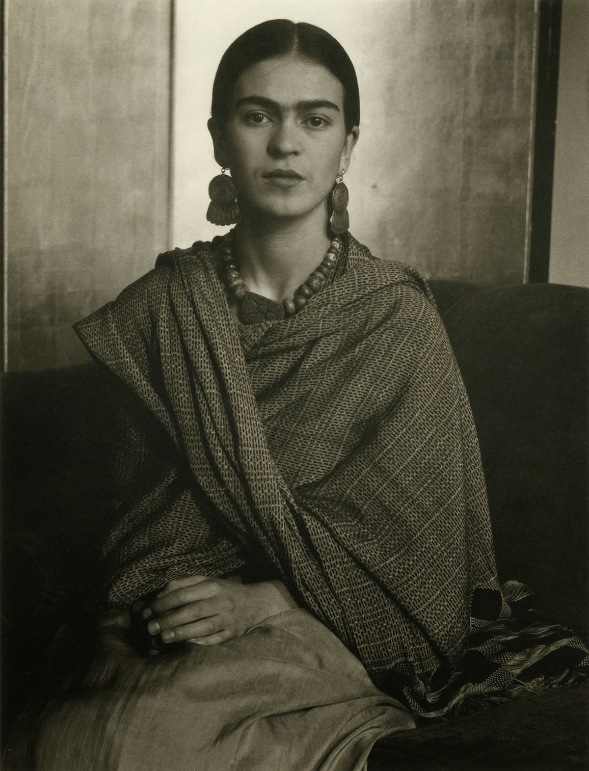 """frida kahol A display of clothes belonging to the artist frida kahlo, part of the exhibition """"frida kahlo: making her self up,"""" which opens saturday at the victoria."""
