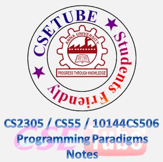 Programming paradigms notes pdf