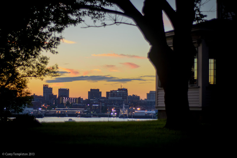 Portland, Maine Summer 2013 Skyline and Sunset by Corey Templeton