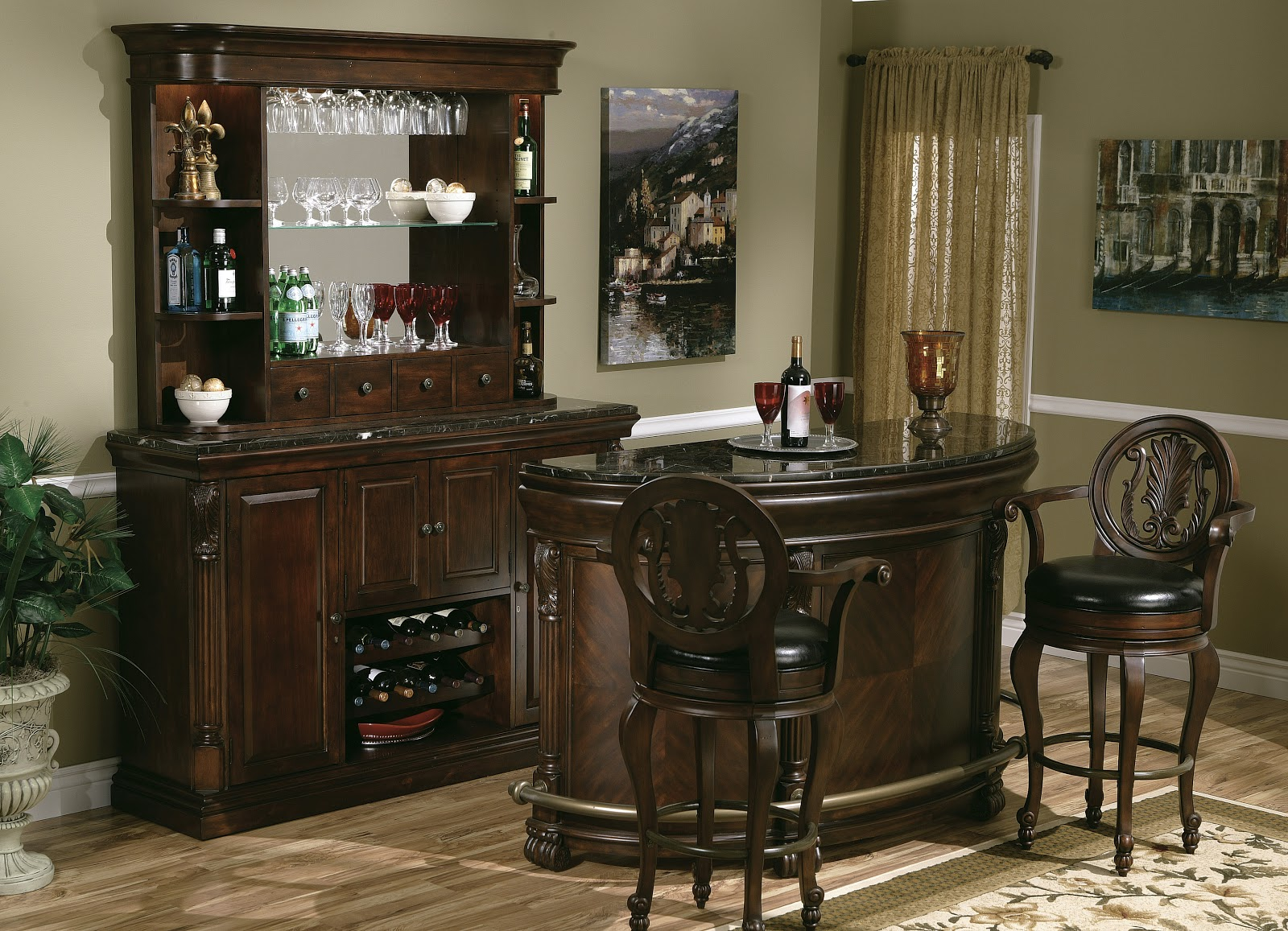 Expressions of time Home bar furniture with kegerator